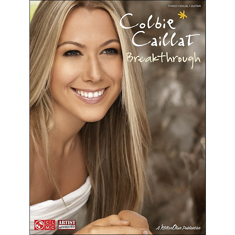Cherry Lane Colbie Caillat: Breakthrough arranged for piano, vocal, and guitar (P/V/G)
