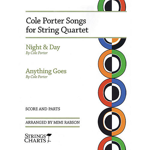 String Letter Publishing Cole Porter Songs for String Quartet: Night & Day and Anything Goes Slick Wrap by Mimi Rabson-thumbnail