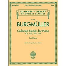 G. Schirmer Collected Studies for Piano - Op. 100 105 109 By Burgmuller