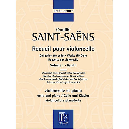 Editions Durand Collection for Cello - Volume 1 Editions Durand Series Softcover Composed by Camille Saint-Saëns-thumbnail