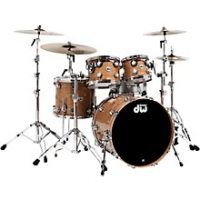 DW Collector's Cherry 4-Piece Lacquer Custom Shell Pack Natural With Chrome Hardware