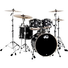 DW Collector's Series 4-Piece Shell Pack Ebony Chrome Hardware
