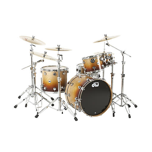 DW Collector's Series 4-Piece Specialty Shell Pack Cherrywood to Burnt Toast Fade Chrome Hardware