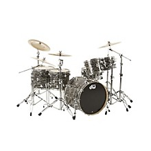 DW Collector's Series 5-Piece Shell Pack Black Oyster Chrome Hardware