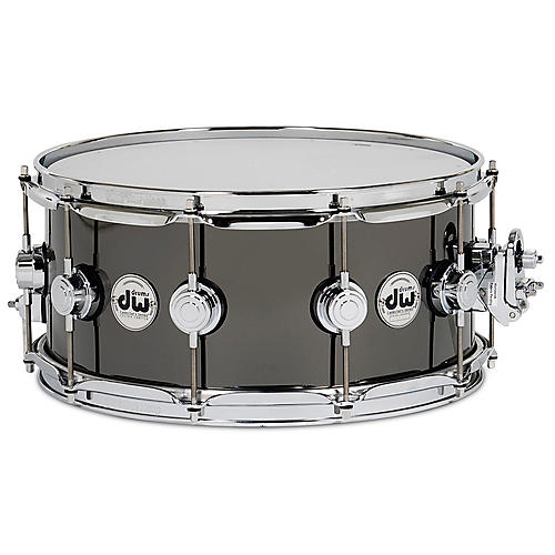 DW Collector's Series Brass Snare Drum Black Nickel Over Brass with Chrome Hardware 14x6.5