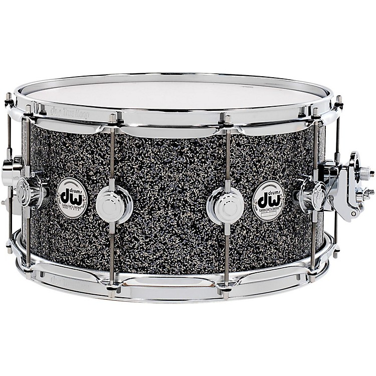 DWCollector's Series FinishPly Snare DrumBlack Galaxy with Chrome Hardware14x5.5