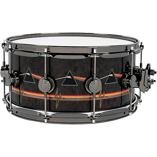 DW Collector's Series Pink Floyd Icon Snare 14 x 6.5 in. Black Nickel Hardware