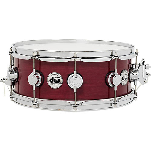 DW Collector's Series Purple Heart Lacquer Custom Snare Drum with Chrome Hardware-thumbnail