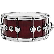 DW Collector's Series Purple Heart Lacquer Custom Snare Drum with Chrome Hardware
