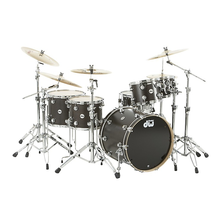 DW Collector's Series Satin Oil 5-Piece Shell Pack Ebony Chrome Hardware