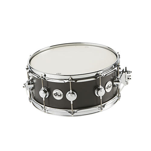DW Collector's Series Satin Oil Snare Drum Ebony with Chrome Hardware 14x6