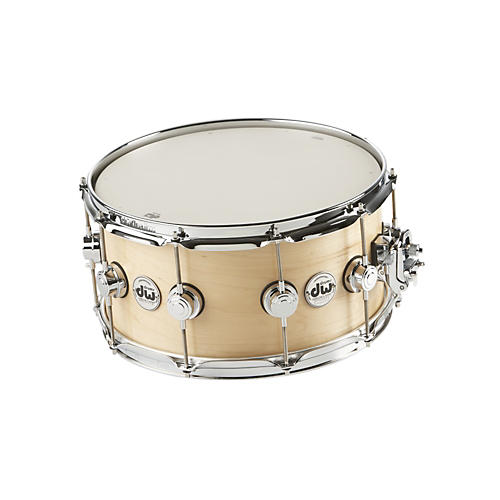 DW Collector's Series Satin Oil Snare Drum Natural with Chrome Hardware 14x7