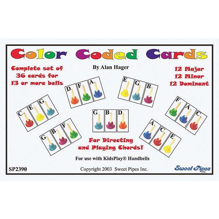 Rhythm Band Color Coded Handbell Cards/36 Chords