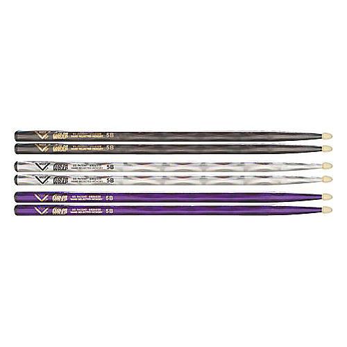 Vater Color Wrap 5B Hickory Drumstick 4-Pack