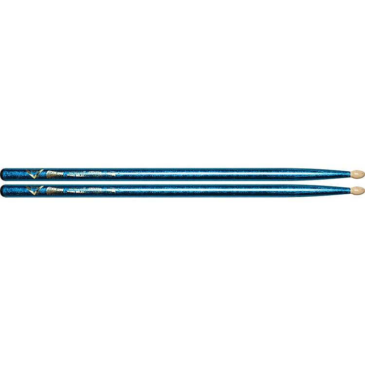 VaterColor Wrap Wood Tip Sticks - Pair5ABlue Sparkle