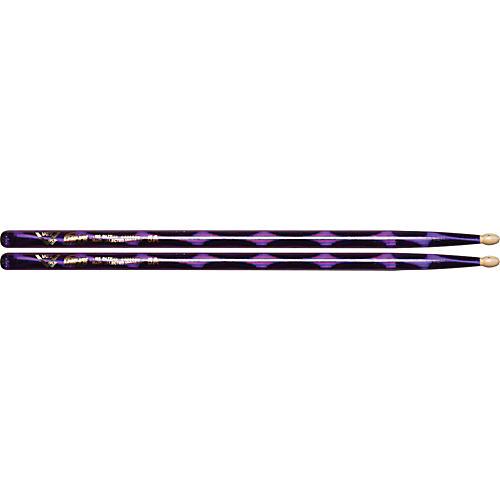 Vater Color Wrap Wood Tip Sticks - Pair 5A Purple Optic