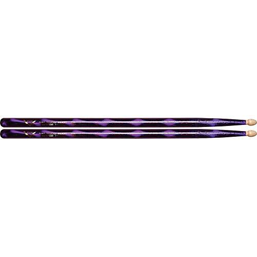 Vater Color Wrap Wood Tip Sticks - Pair 5B Purple Optic