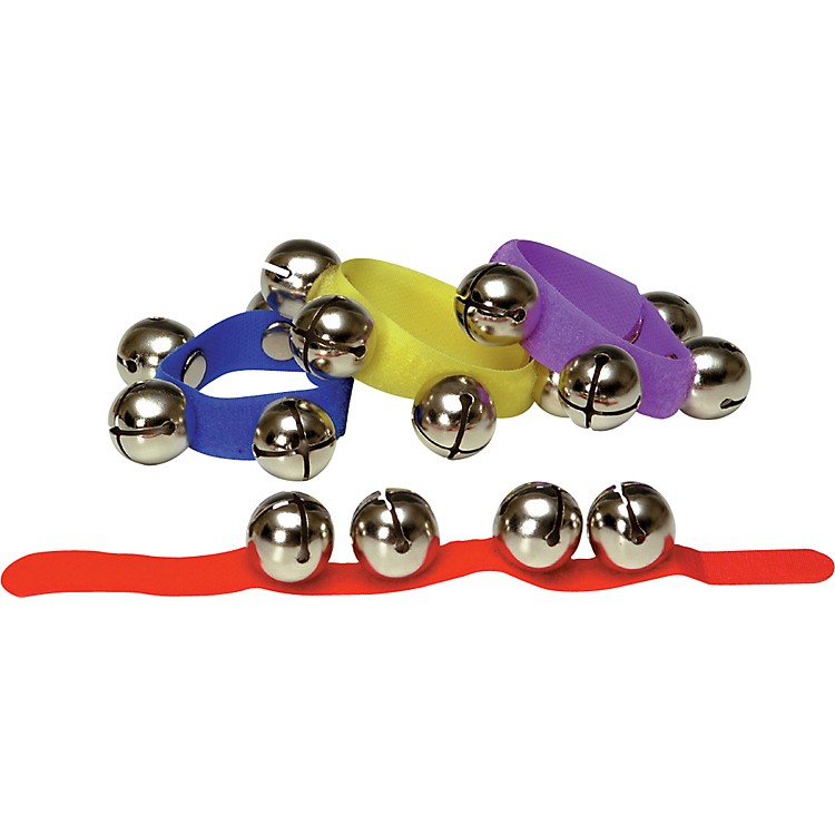 Rhythm BandColored Velcro Wrist and Ankle Bells12 Pack