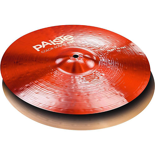 Paiste Colorsound 900 Heavy Hi Hat Cymbal Red-thumbnail