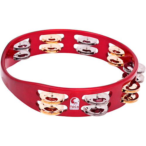 Toca Colorsound Tambourine 10 in. Red