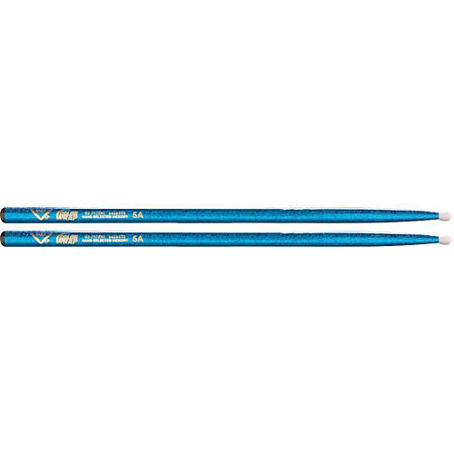 Vater Colorwrap Nylon Tip Sticks - Pair Blue Sparkle 5A