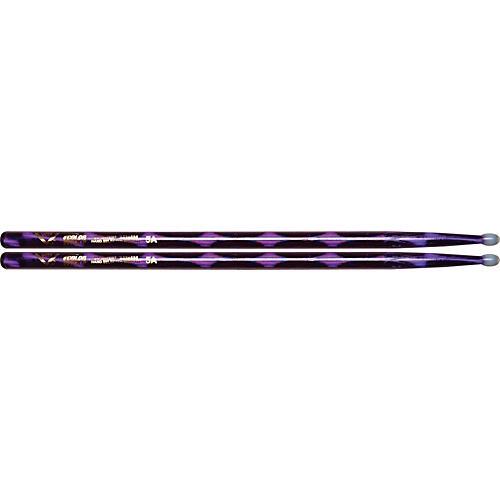 Vater Colorwrap Nylon Tip Sticks - Pair Purple Optic 5A