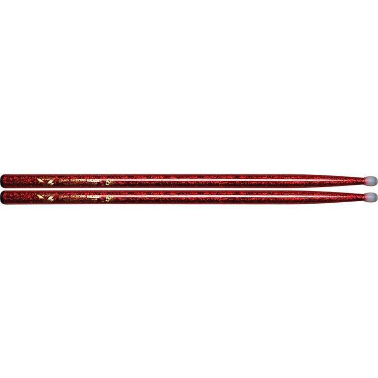 VaterColorwrap Nylon Tip Sticks - PairRed Sparkle5B
