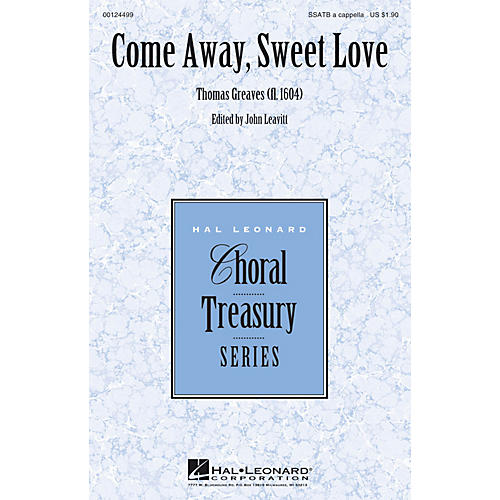Hal Leonard Come Away, Sweet Love SSATB A Cappella composed by Thomas Greaves-thumbnail