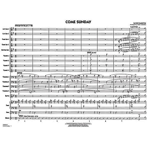 G. Schirmer Come Sunday - Jazz Ensemble Score Jazz Band-thumbnail