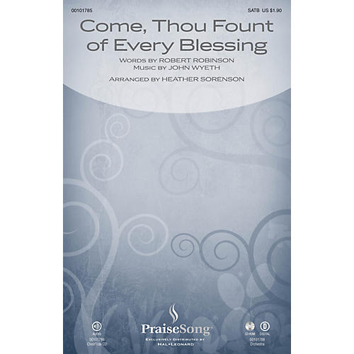 PraiseSong Come, Thou Fount of Every Blessing SATB arranged by Heather Sorenson-thumbnail