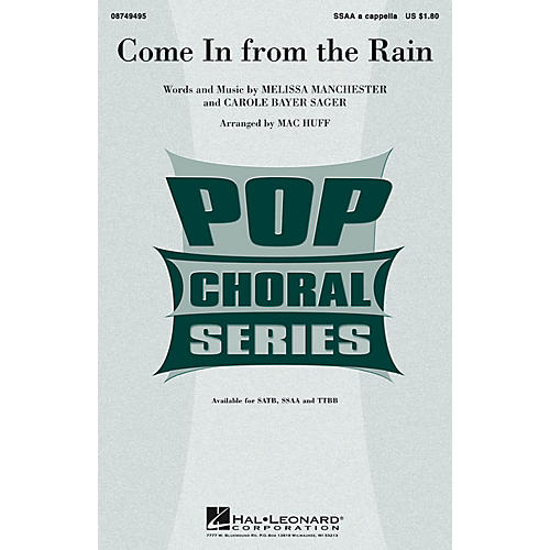 Hal Leonard Come in from the Rain SSAA A Cappella arranged by Mac Huff-thumbnail