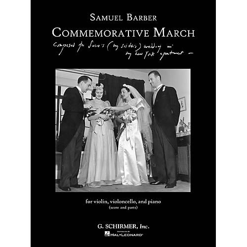 G. Schirmer Commemorative March (First Edition Piano Trio Score and Parts) Ensemble Series Softcover by Samuel Barber-thumbnail