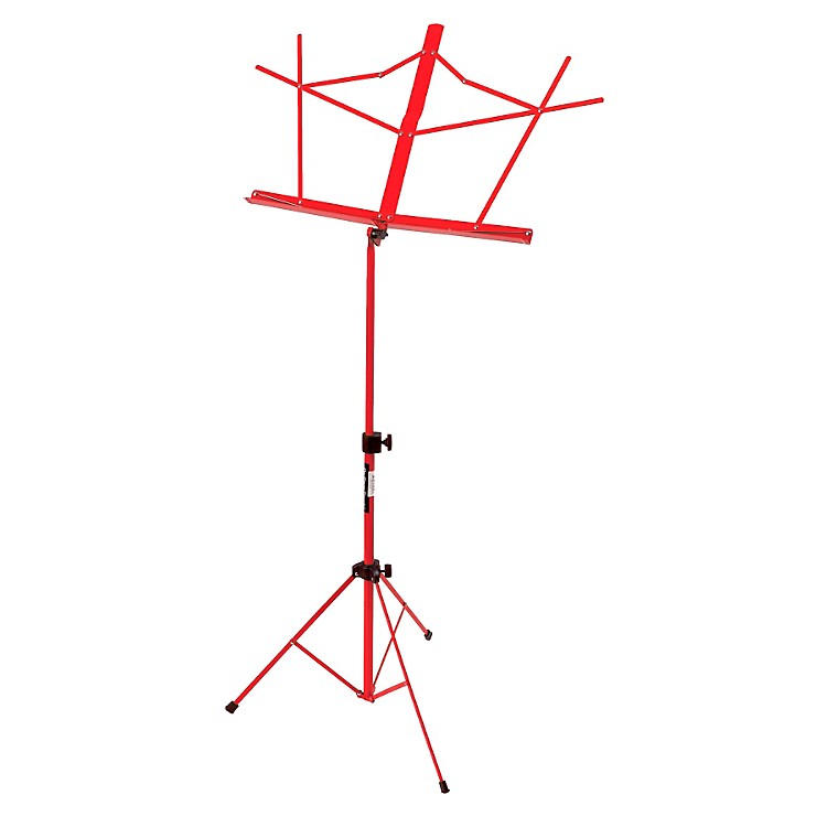 On-Stage Stands Compact Sheet Music Stand Red