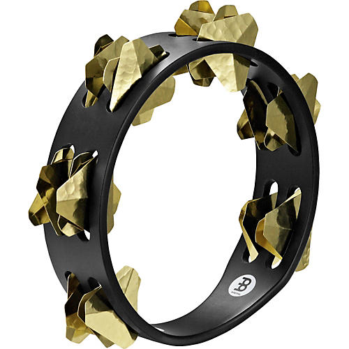 Meinl Compact Super-Dry Wood Tambourine Two Rows Brass Jingles