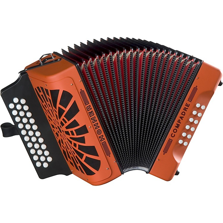 Hohner Compadre FBbEb Accordion Orange