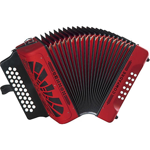 Hohner Compadre FBbEb Accordion Red
