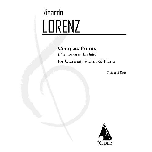 Lauren Keiser Music Publishing Compass Points (Puentos en la Brujula) for Clarinet, Violin, and Pa - Sc/pts LKM Music by Ricardo Lorenz