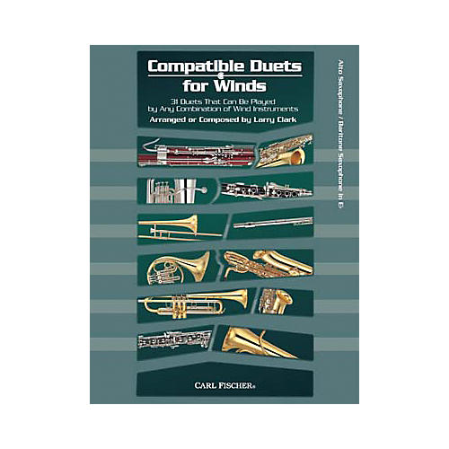Carl Fischer Compatible Duets for Winds: Alto Saxophone/Baritone Saxophone Book-thumbnail