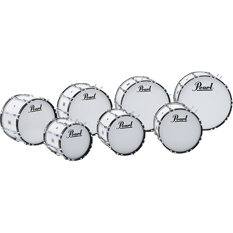PearlCompetitor Marching Bass Drum#33 Pure White16x14