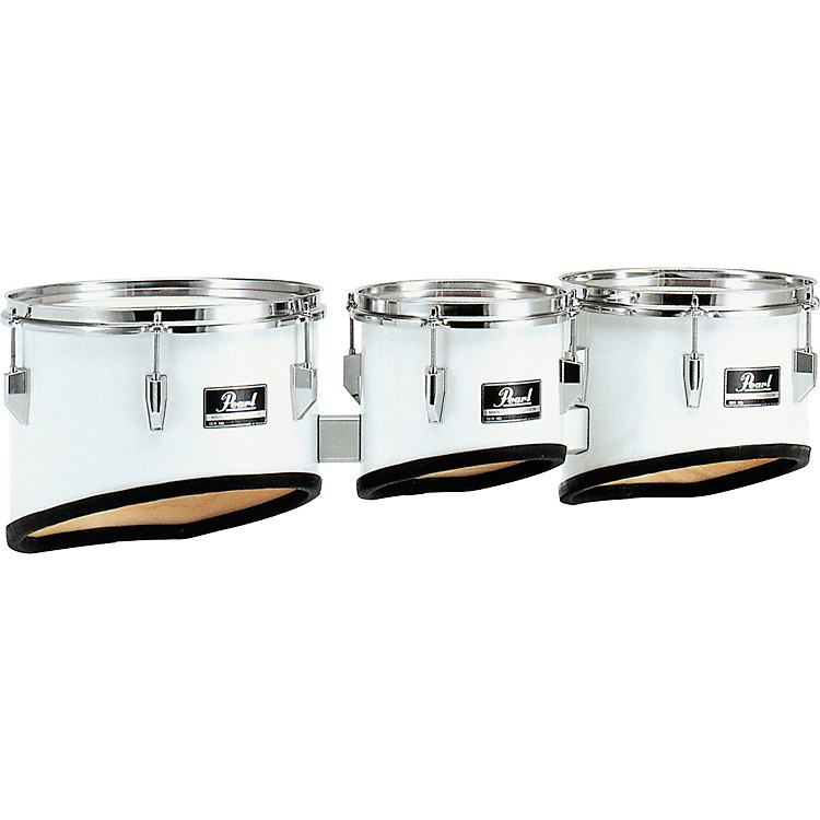 Pearl Competitor Marching Tom Set #33 Pure White 8,10,12,13 set