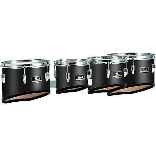 Pearl Competitor Marching Tom Set #46 Midnight Black 8,10,12,13 set