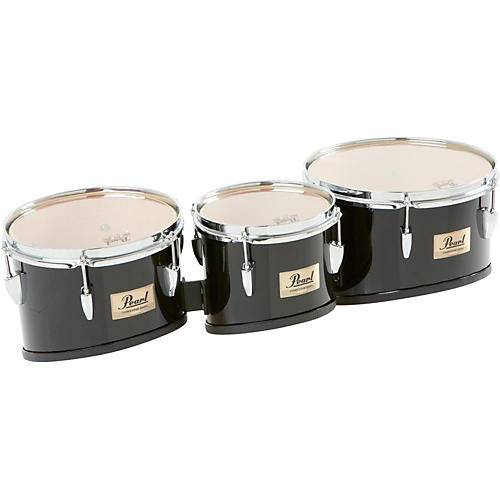 Pearl Competitor Marching Tom Set Midnight Black (#46) 8,10,12 set