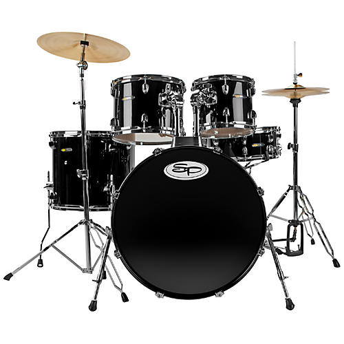 Sound Percussion Labs Complete 5-Piece Drum Set with Cymbals & Hardware