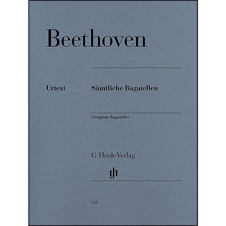 G. Henle VerlagComplete Bagatelles By Beethoven
