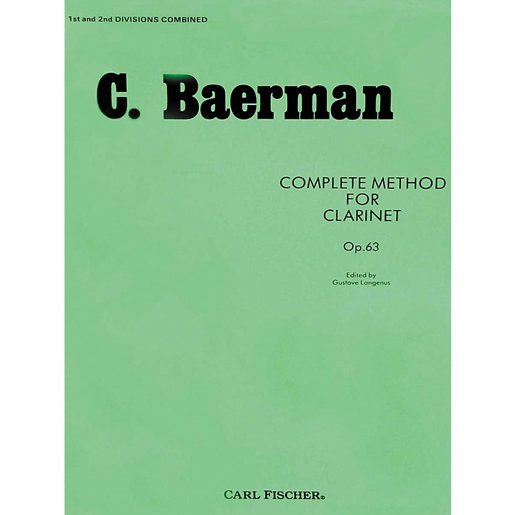 Carl Fischer Complete Method For Clarinet Op.63 - Parts 1 & 2