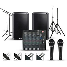 Harbinger Complete PA Package with Harbinger L2404FX-USB 24-channel Mixer with Alto Truesonic 2 Series Active Speakers