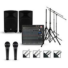 Harbinger Complete PA Package with L2402 Mixer and Mackie Thump Speakers