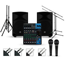 Yamaha Complete PA Package with MG10XU Mixer and Mackie Thump Speakers