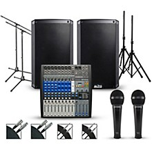 """PreSonus Complete PA Package with PreSonus AR12 14-channel Mixer with Alto Truesonic 2 Series Active Speakers 10"""" Mains"""