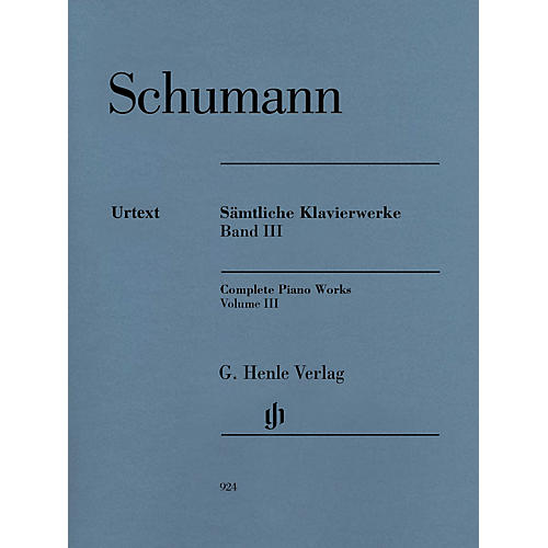G. Henle Verlag Complete Piano Works - Volume 3 Henle Music Softcover by Robert Schumann Edited by Ernst Herttrich-thumbnail